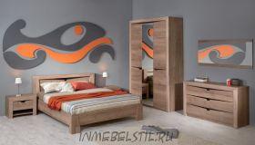 Спальня Гарда Дуб галифакс Табак